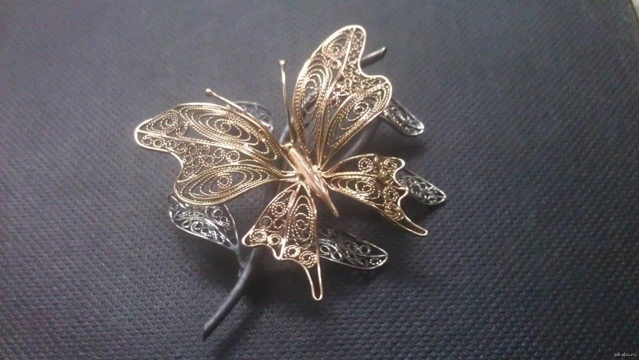 Бабочки броши своими руками