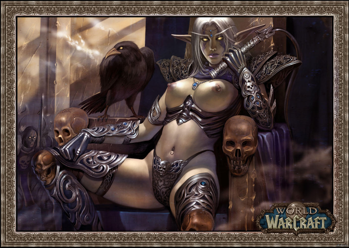 Sexy girl World of Warcraft art fucking pic
