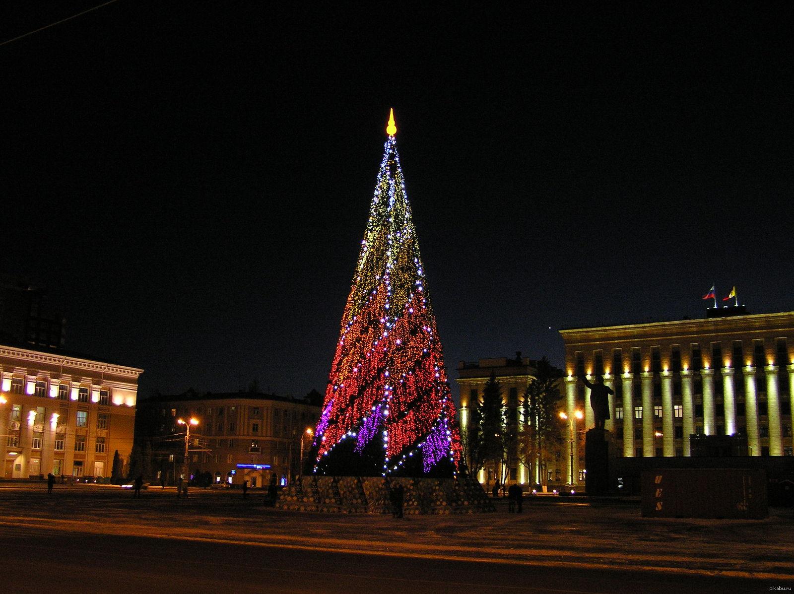 Фото новогодней елки 2012 воронеж 3