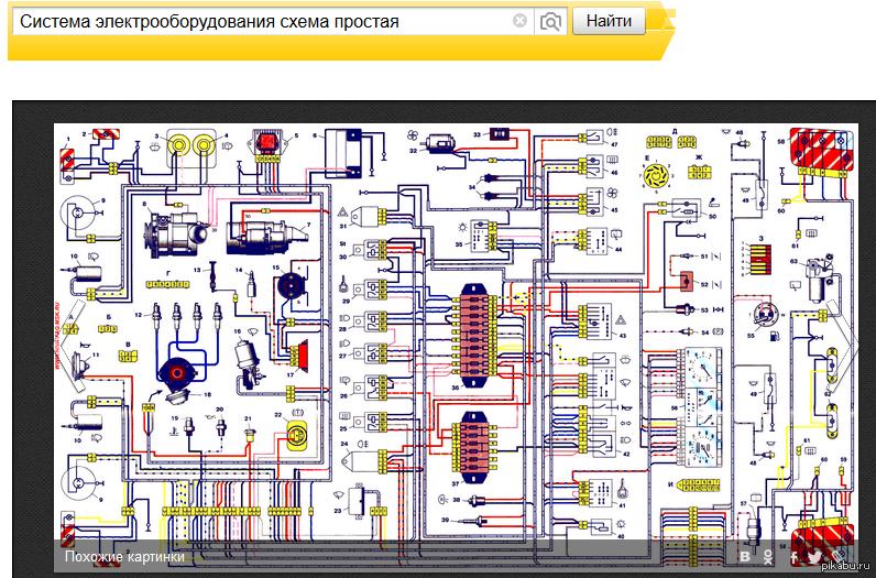 Нива 21213 схема провод