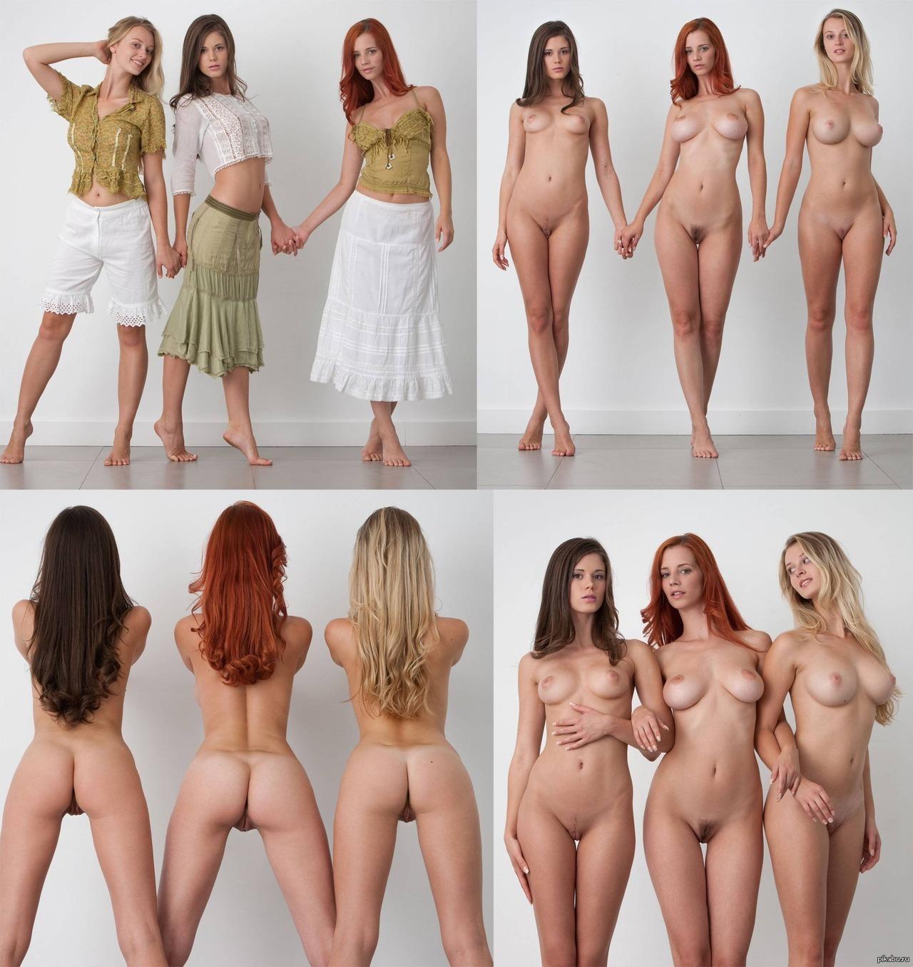 Фото девушек раздетые и одетые 25 фотография
