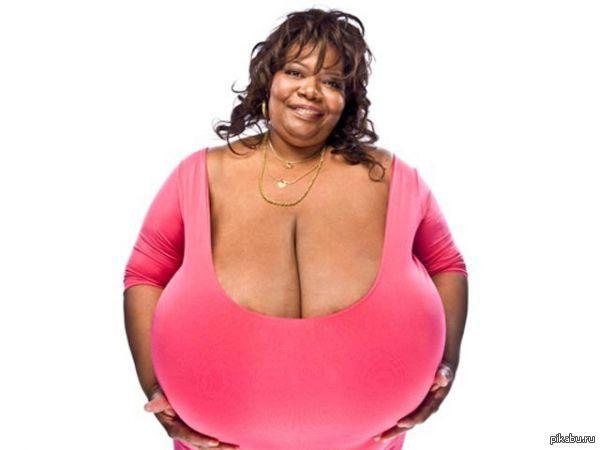 Женская большая натуральная грудь
