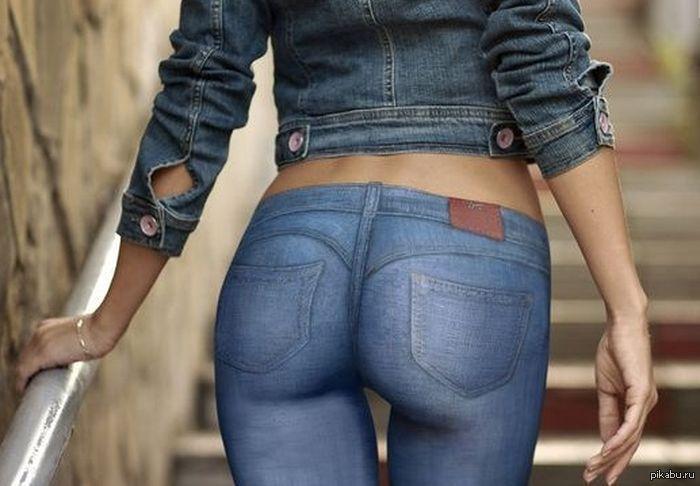 Попа в джинсах у девушке — photo 11