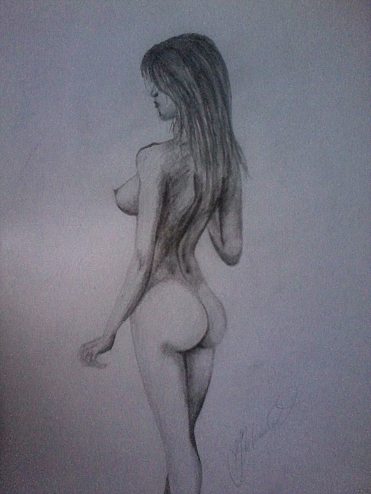 Рисунки голых девушек секс ануса